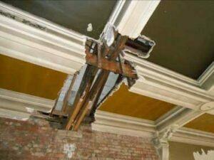 Ceiling in poor repair