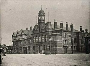 Early picture of Eccles Town Hall