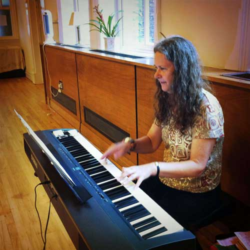 Eileen at piano