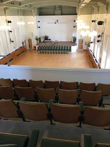 The renovated Hall