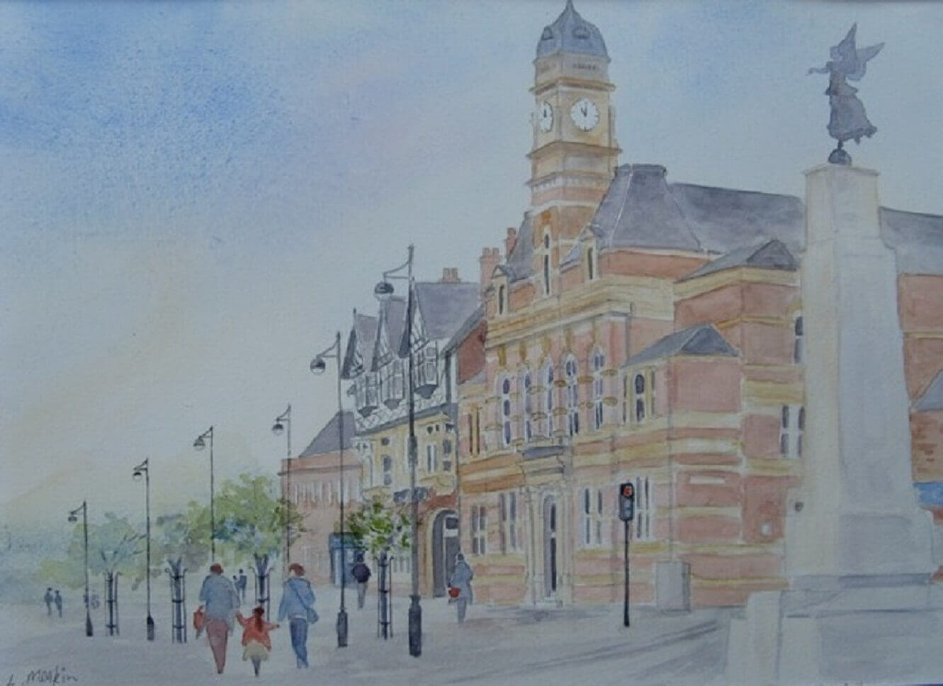 painting of Eccles Town Hall